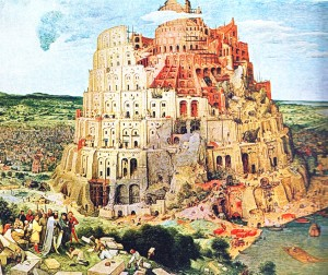 """babel-tower""  Peter Bregel (1563)"